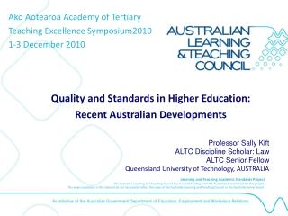 Quality and Standards in Higher Education:                    Recent Australian Developments