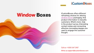 Select Custom Printed Gift Boxes with Window at iCustomBoxes