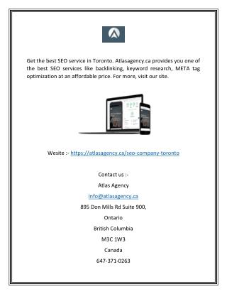 Seo company toronto | Atlasagency.ca
