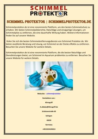 Schimmel Protektor   Schimmelprotektor.de