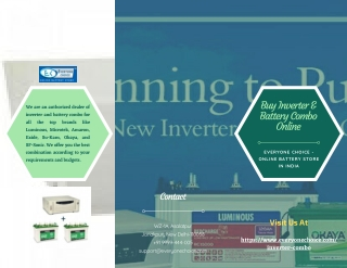 Buy Inverter & Battery Combo Online In Just A Click