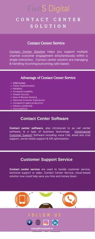 Contact Center Solution | Contact Center Service - FiveSdigital