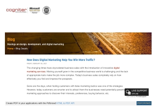 How Does Digital Marketing Help You Win More Traffic?