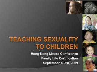 Teaching sexuality to children