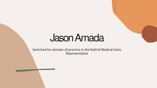Hard Work Leads the Way to Success – Jason Amada