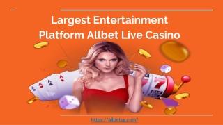 Largest Entertainment Platform Allbet Live Casino