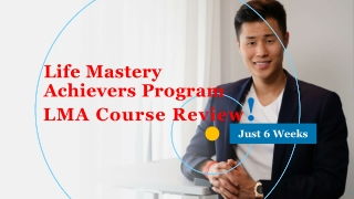 Accelerate Your Personal Growth With LMA Course in just 6 Week