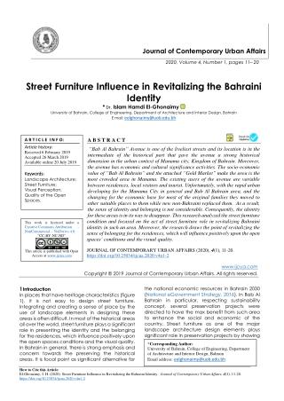 Street Furniture Influence in Revitalizing the Bahraini Identity