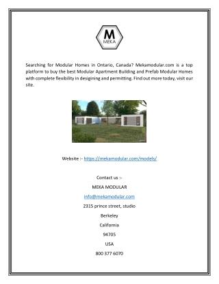 Modular Homes Ontario Canada   Mekamodular.com