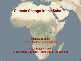 Climate Change in the Sahel