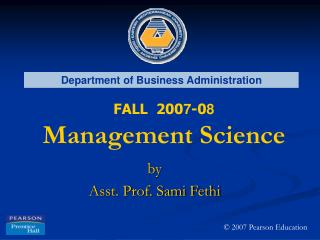 by Asst. Prof. Sami Fethi