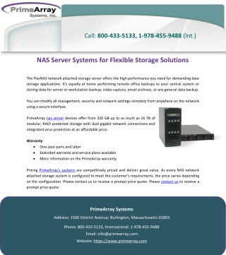 NAS Server Systems for Flexible Storage Solutions