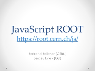 JavaScript ROOT https://root.cern.ch/js/