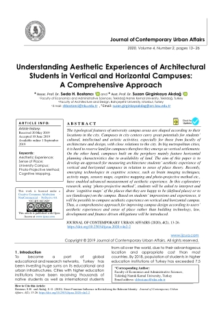 Understanding Aesthetic Experiences of Architectural Students in Vertical and Horizontal Campuses: A Comprehensive Appro