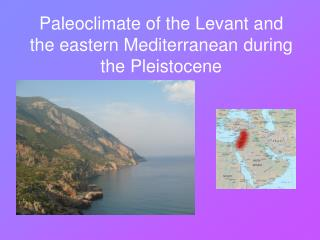 Paleoclimate of the Levant and the eastern Mediterranean during the Pleistocene