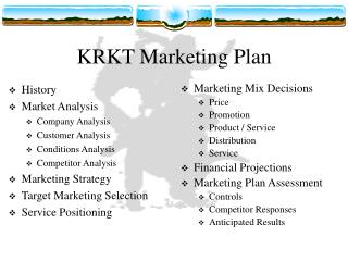 KRKT Marketing Plan