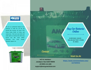 Buy Car Batteries Online In India