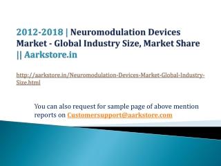 Neuromodulation Devices Market - Global Industry Size, Marke