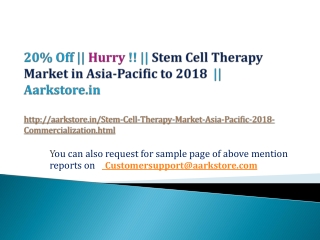 Stem Cell Therapy Market in Asia-Pacific to 2018 - Commercia