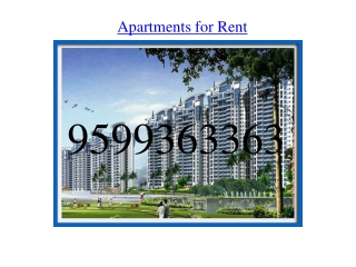 Apartments for Rent on MG Road Gurgaon