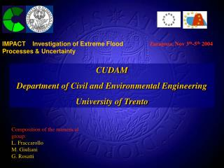 CUDAM Department of Civil and Environmental Engineering University of Trento