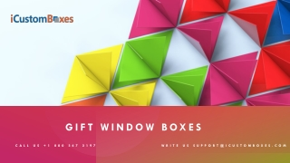 Gift Window Boxes | Make Your Bond Stronger with Customers