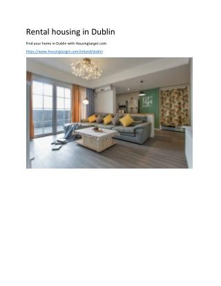 Rental housing in Dublin