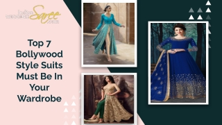Trendy Bollywood Style Suits design for Festive Season!