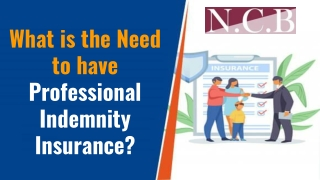 What is the Need to have Professional Indemnity Insurance