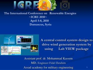 A central control system design to drive wind generation system by using      Lab VIEW package