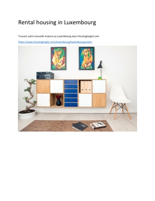 Rental housing in Luxembourg