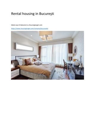 Rental housing in Bucureşti