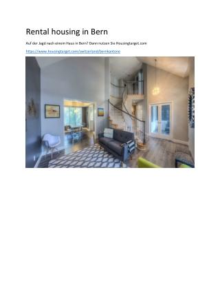 Rental housing in Bern