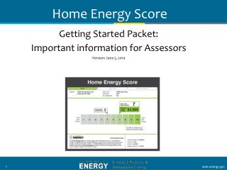 Getting Started Packet: Important information for Assessors Version:  September 10, 2012