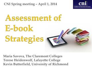 CNI Spring meeting – April 1, 2014