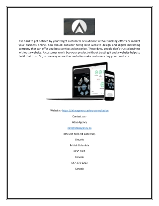 Seo consultation | Atlasagency.ca