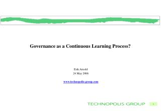 Governance as a Continuous Learning Process?