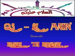 Surat Al - Maun