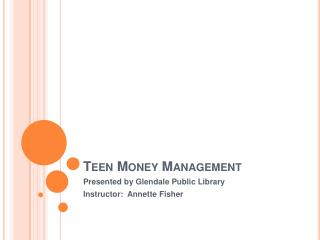Teen Money Management