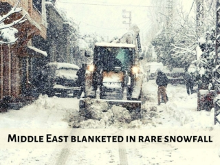 Middle East blanketed in rare snowfall