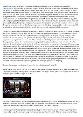 Metode Memainkan Situs Judi Slot Online Joker123 Terbaik Indonesia-Aturan Dasar Yg Harus Ente Tahu