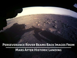 Perseverance rover beams back images from Mars after historic landing