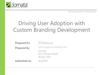 Driving User Adoption with Custom Branding Development