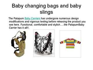 baby changing bags and baby slings