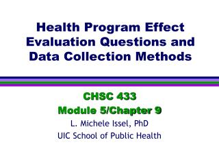 Health Program Effect Evaluation Questions and Data Collection Methods
