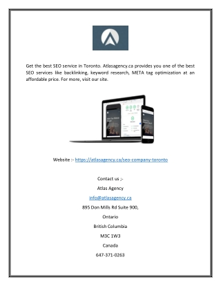 Toronto seo | Atlasagency.ca