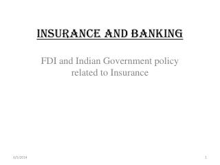 INSURANCE AND BANKING