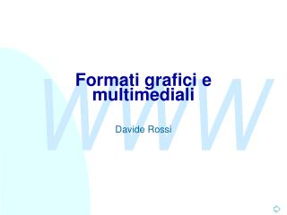 Formati grafici e multimediali