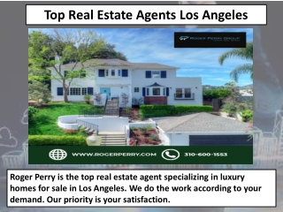 Top Real Estate Agents Los Angeles
