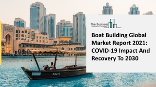 Global Boat Building Market To Reach At High CAGR In Forecast Period 2021 To 2025